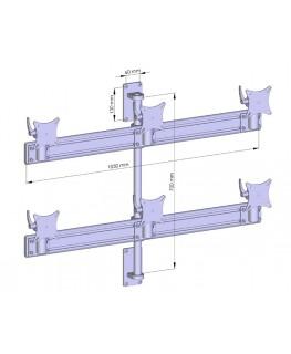 6 fach wandhalterung 10 29 multi monitor halterung. Black Bedroom Furniture Sets. Home Design Ideas