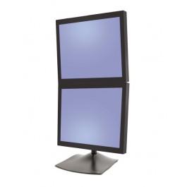 ergotron ds100 standfu 2 monitore vertikal schwarz 33 091 200. Black Bedroom Furniture Sets. Home Design Ideas