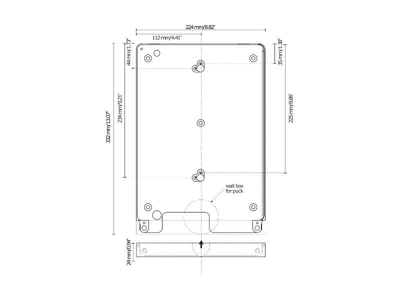 basalte eve tablet wandhalter ipad pro 12 9 rund silber. Black Bedroom Furniture Sets. Home Design Ideas