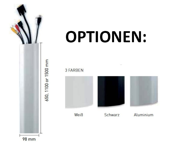 Erard Kabelkanal für die Wand - 1500 mm, Aluminium