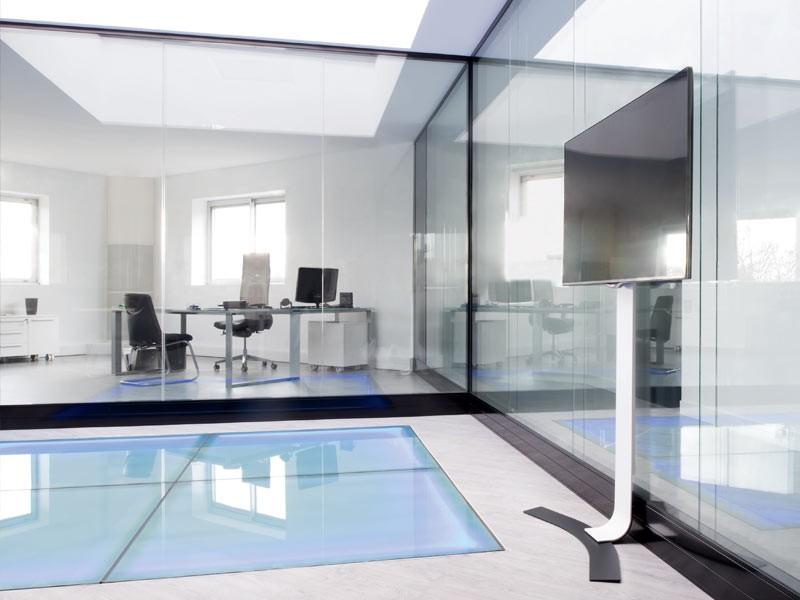 erard standit pro bohrlose tv wandhalterung max 50kg. Black Bedroom Furniture Sets. Home Design Ideas