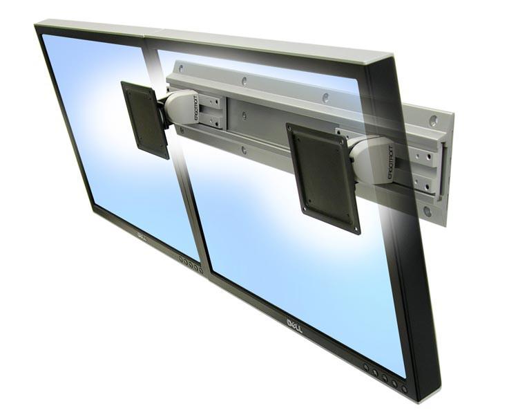 Ergotron 28 514 800 Neo Flex Monitor Dual Wandhalterung