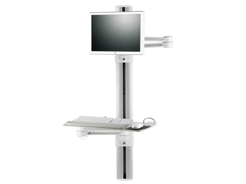 humanscale v7 wandstation mit monitorhalterung und. Black Bedroom Furniture Sets. Home Design Ideas
