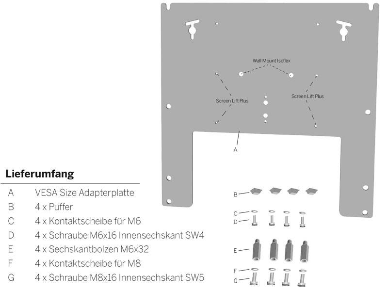 Loewe Wall Mount Slim Vesa Size 400 71361t20