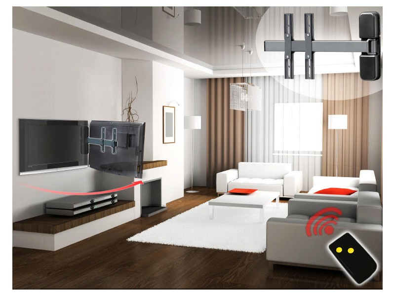 mecatronica flag 50m elektrische tv wandhalterung. Black Bedroom Furniture Sets. Home Design Ideas