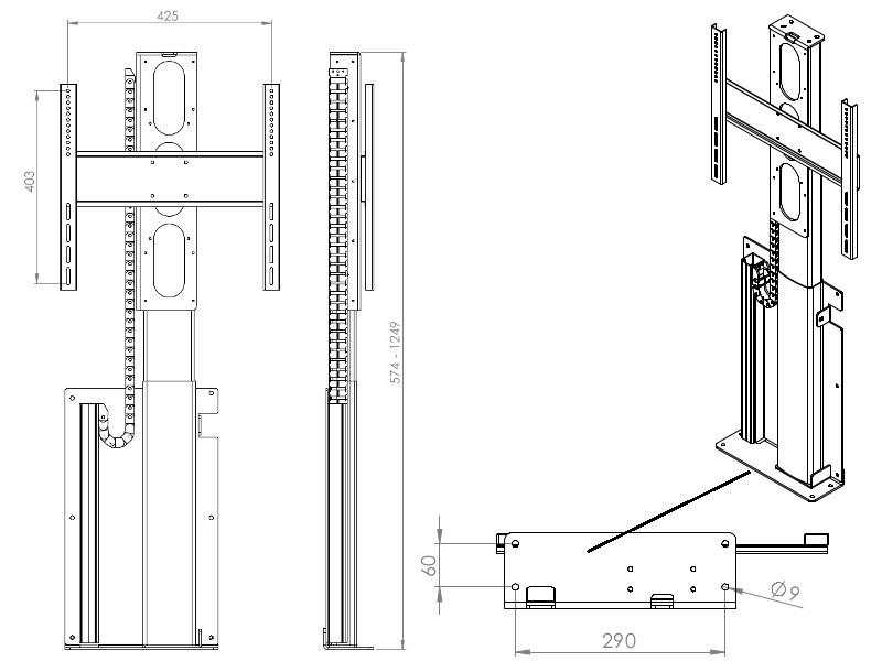 Tv lift monlines mlw675s elektrische wandhalterung - Elektrische zahnburste mit wandhalterung ...