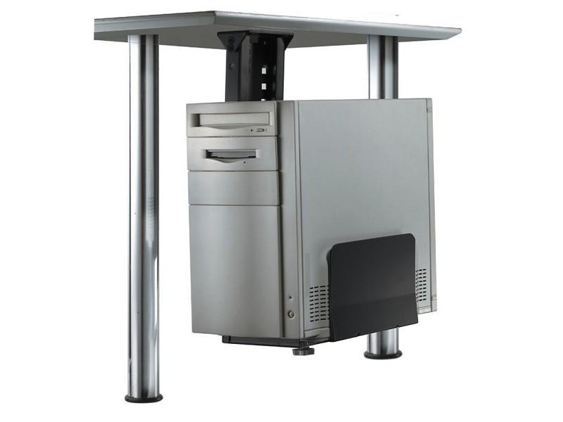 Newstar pc d200black pc tischhalterung schwarz for Schreibtischplatte schwarz