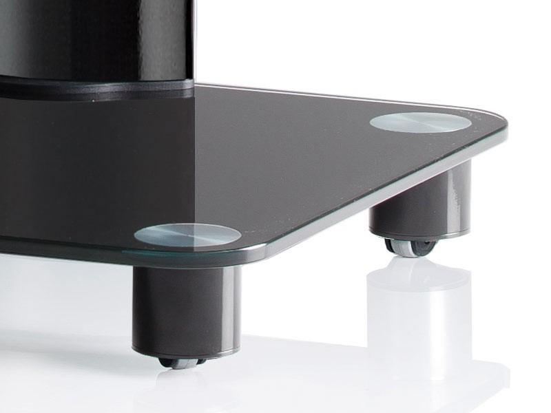 vcm tv standfu bilano schwarz schwarzglas inkl rollen. Black Bedroom Furniture Sets. Home Design Ideas