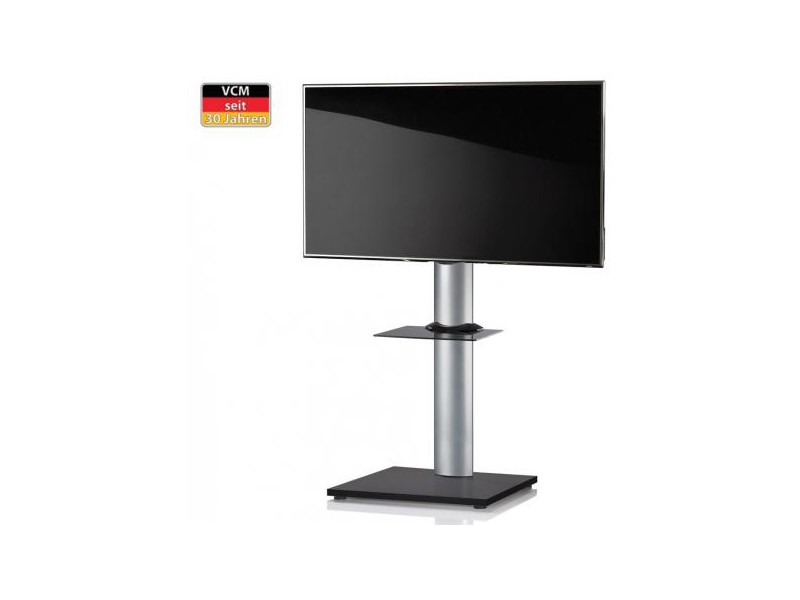 vcm tv standfu onu schwarzlack mit regal ohne rollen. Black Bedroom Furniture Sets. Home Design Ideas