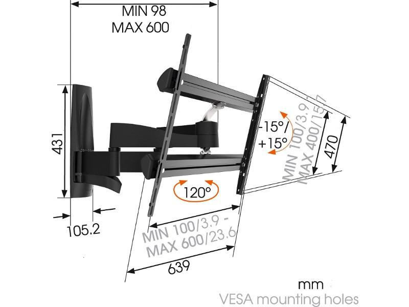... Vogelu0027s WALL 3350 Schwenkbare TV Wandhalterung 40