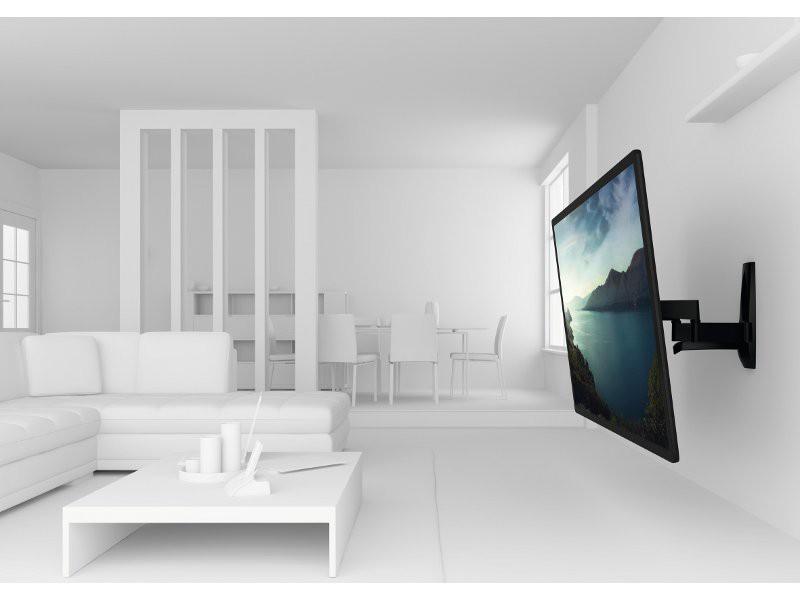 vogels wall 2450 schwenkbare tv wandhalterung schwarz. Black Bedroom Furniture Sets. Home Design Ideas