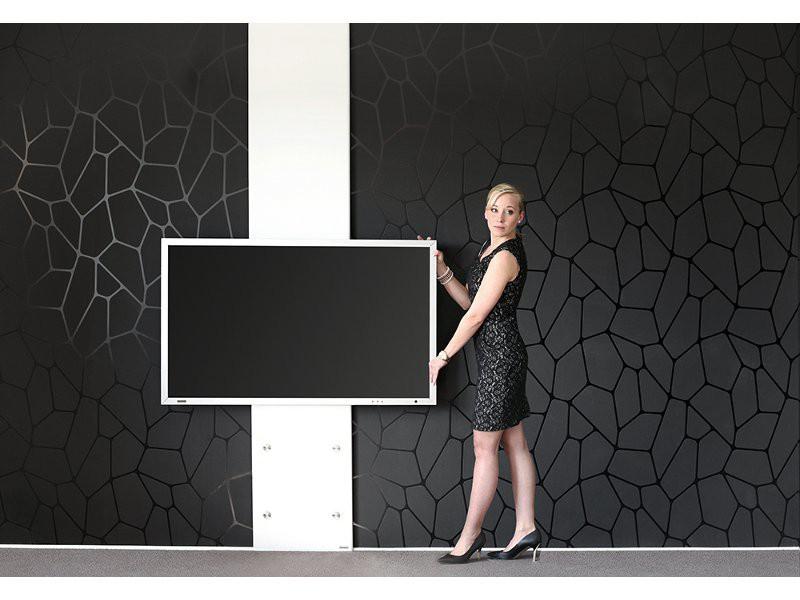 wissmann tv wandhalterung plate art 126 dh 250 decke bis 250 cm. Black Bedroom Furniture Sets. Home Design Ideas