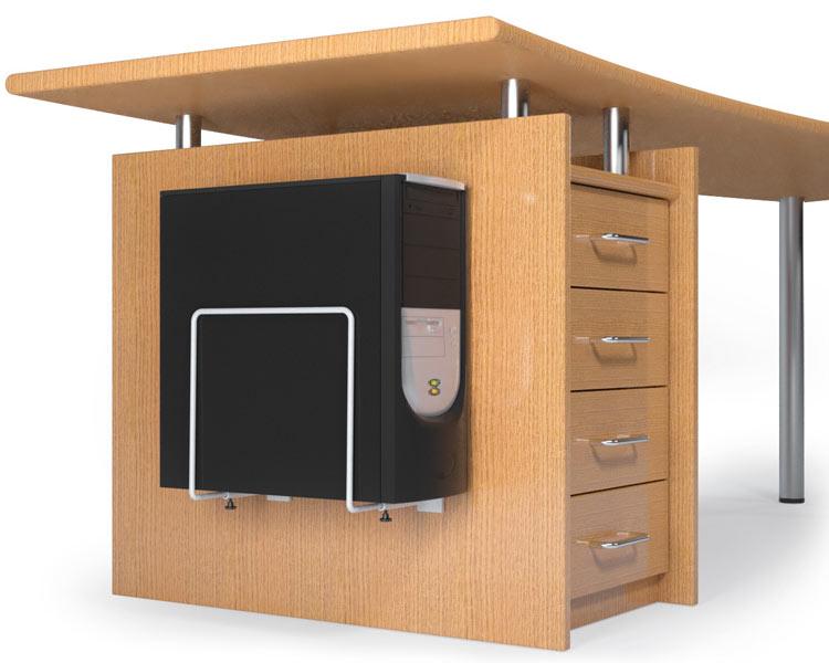 schreibtisch pc halterung dekoration bild idee. Black Bedroom Furniture Sets. Home Design Ideas