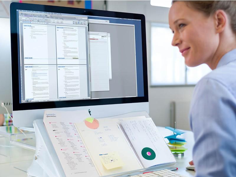 dataflex addit monitor erh hung bildschirm dokumentenhalter. Black Bedroom Furniture Sets. Home Design Ideas