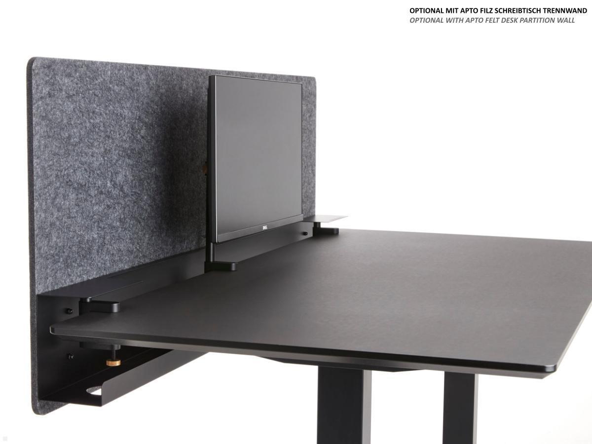 APTO Tisch Monitorhalterung höhenverstellbar bis 9 Zoll, mattschwarz