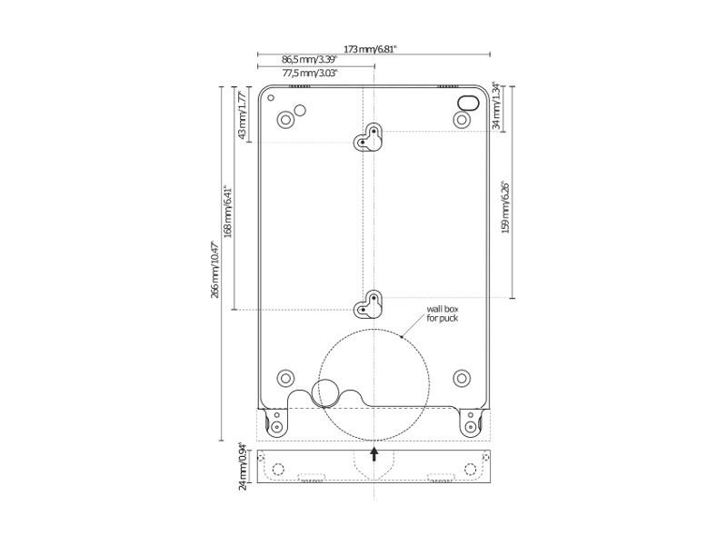 basalte eve tablet wandhalterung ipad pro 9 7 rund wei. Black Bedroom Furniture Sets. Home Design Ideas
