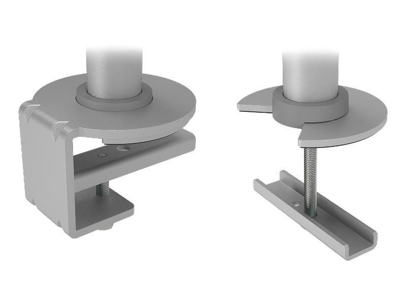Dataflex Viewgo Doppel Monitor Tischhalterung, silber (48.132)
