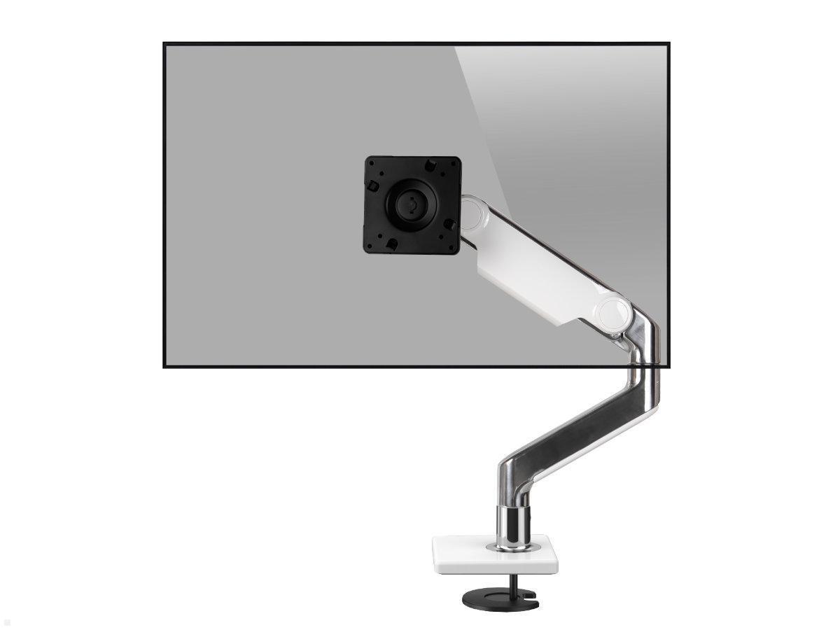 Humanscale M100.10 Monitor Tischhalterung Durchschraub schräg, weiß