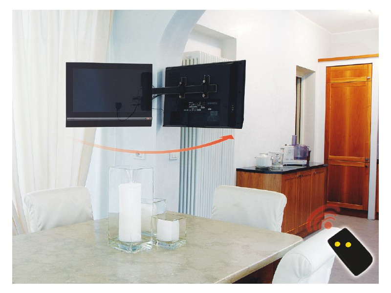 Wandaufhängung Fernseher mecatronica flag 50m, elektrische tv wandhalterung