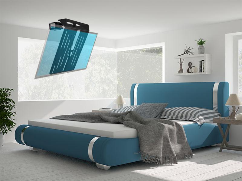 MonLines mMotion Flip elektrische TV Deckenhalterung, schwarz