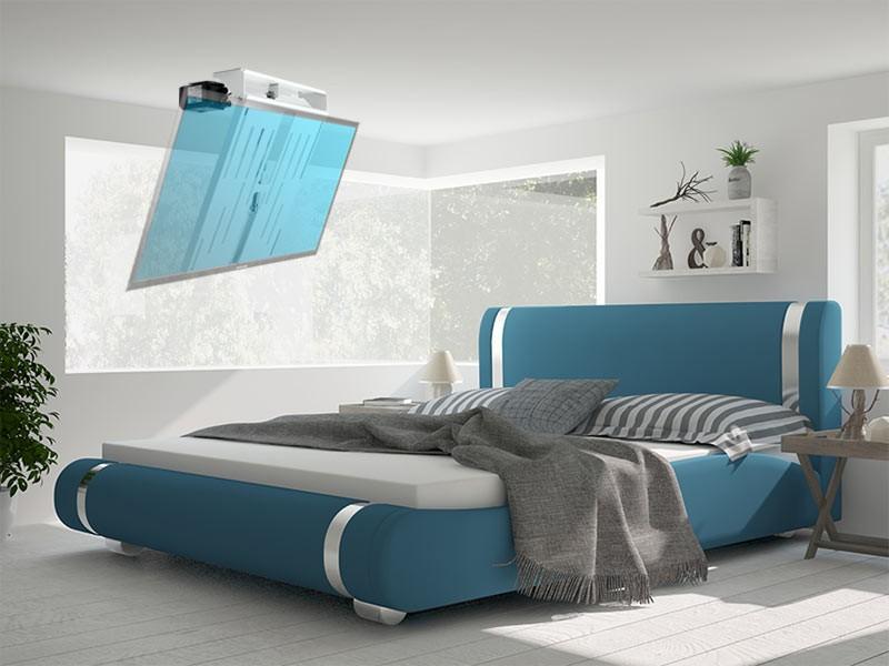 MonLines mMotion Flip elektrische weiße TV Deckenhalterung