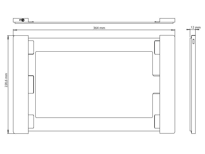 smart things ipad wandhalterung sdock fix pro 12 9 schwarz. Black Bedroom Furniture Sets. Home Design Ideas