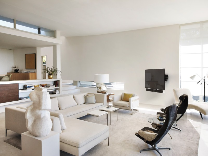 schwenkbare tv wandhalterung vogels soundmount next 8365. Black Bedroom Furniture Sets. Home Design Ideas