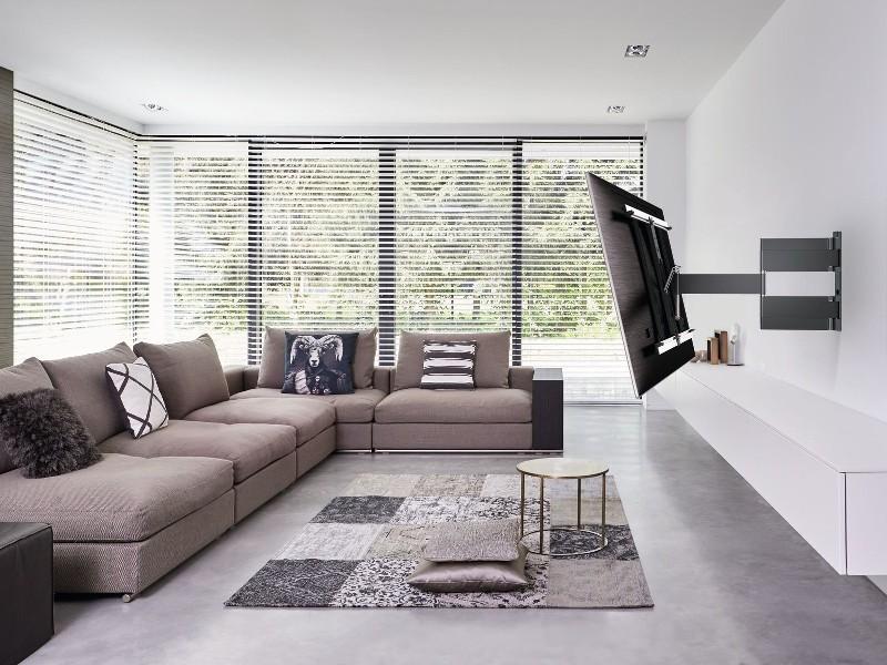 vogels thin 445 flache tv wandhalterung fernseher. Black Bedroom Furniture Sets. Home Design Ideas